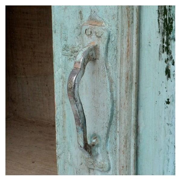 Presklená skriňa Goa 84x135 cm, modrá patina
