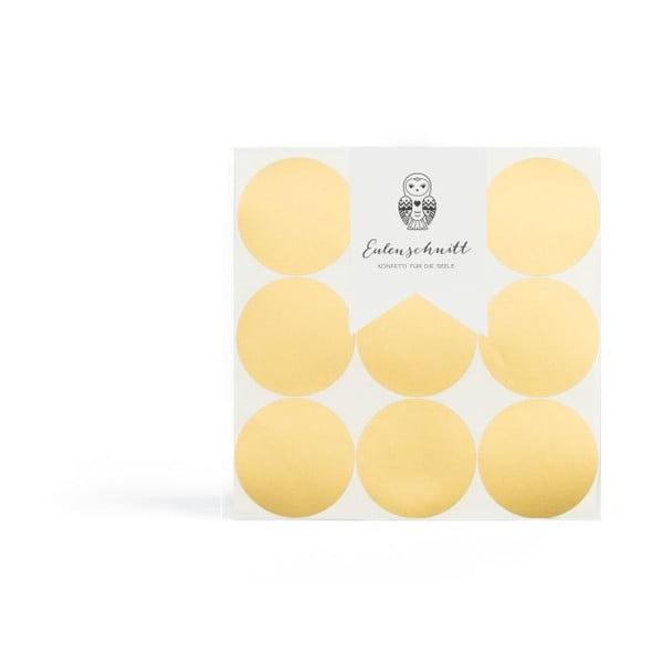 Samolepky na stenu Goldene Dots, 18 ks