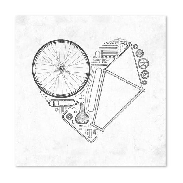 Plagát Love Bike od Florenta Bodart, 30x30 cm