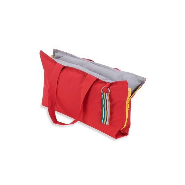 Skladací sedák Hhooboz 50x60 cm, červený