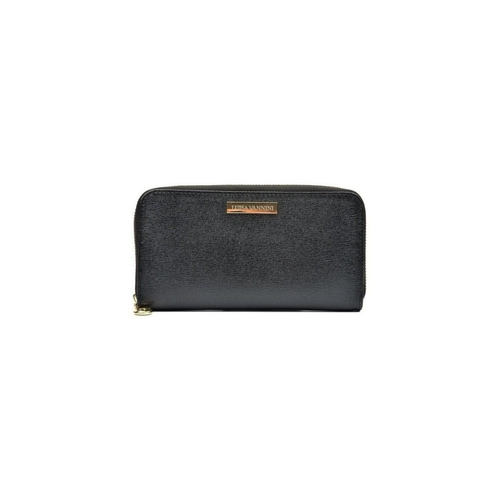 Čierna kožená peňaženka Luisa Vanniti Milia