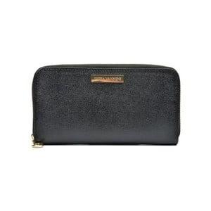 Čierna kožená peňaženka Luisa Vannini Milia