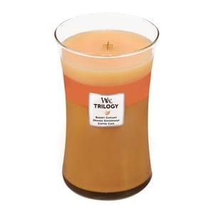 Sviečka s vôňou koláča, pomaranča a zázvoru Woodwick Trilogy Čerstvý koláč, doba horenia 130 hodín