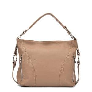 Béžová kožená kabelka Cala Ferreri Rose