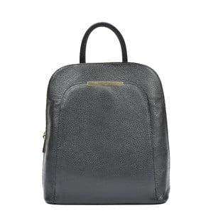 Čierny kožený batoh Renata Corsi Marta