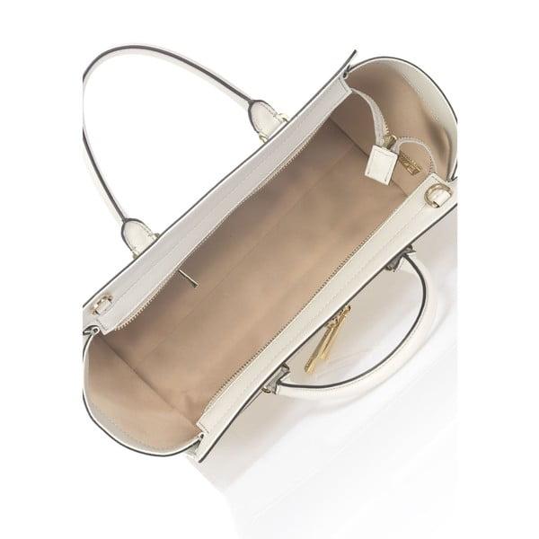 Svetlosivá kožená kabelka Krole Kristina