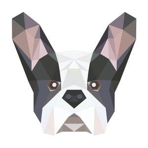 Samolepka Fanastick Origami Bulldog