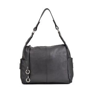 Čierna kožená kabelka Mangotti Bags Claudia