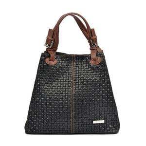 Čierna kožená kabelka Isabella Rhea Simona