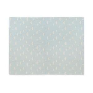 Modrý detský bavlnený ručne vyrobený koberec Naf Naf Clouds, 160×120 cm