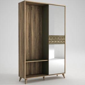Skriňa so zrkadlom v dekore orechového dreva Ratto Marvin