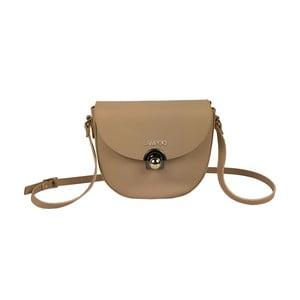 Hnedá kožená kabelka Lampoo Kasso