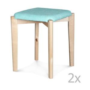 Sada 2 modrých taburetiek Opjet Astrid