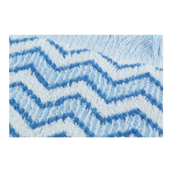 Set 2 osušiek Zig Zag Blue, 70x140 cm