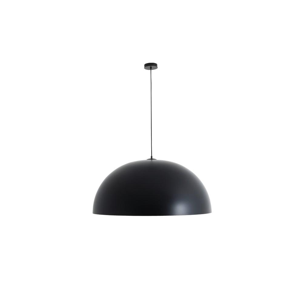 Čierne závesné svietidlo s detailom v medenej farbe Custom Form Lord, ø 90 cm