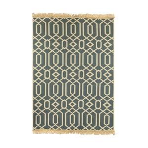 Modrý koberec Floorist Kenar Blue Beige,80x150cm