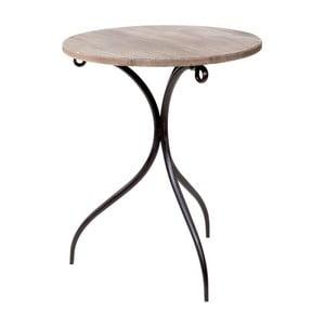 Odkladací stolík Wooden Brown, 50x60 cm
