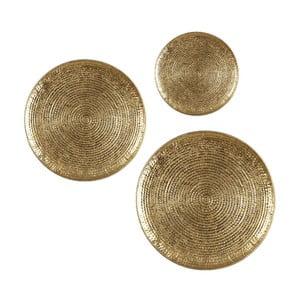 Set 3 podnosov Round Dorado