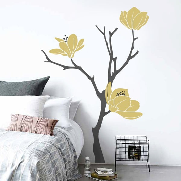 Samolepka na stenu Magnolia, 70x50 cm