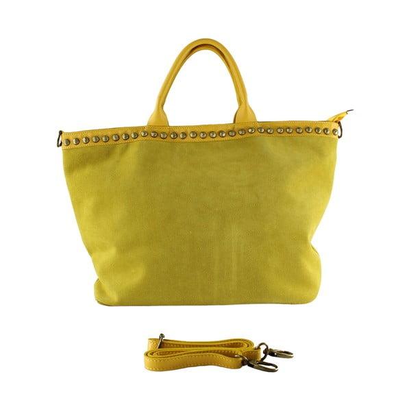 Kožená kabelka Skull, žltá