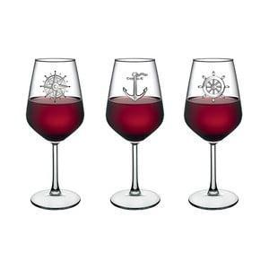Sada 4 pohárov na víno Vivas Marine, 345 cm