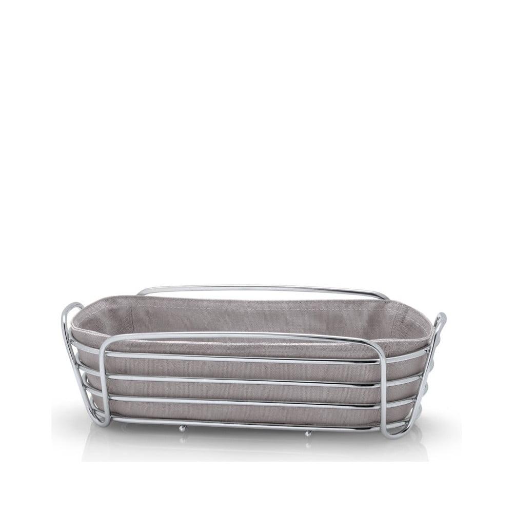 Sivý košík na pečivo s bavlnenou vložkou Blomus Delara, šírka 32 cm