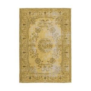 Horčicovožltý ručne tkaný koberc Kayoom, 80 x 150 cm