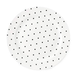 Keramický tanier Miss Étoile Black Dots, ⌀ 25 cm