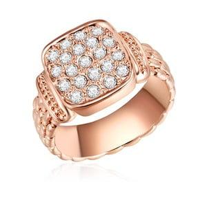 Prsteň vo farbe ružového zlata s krištáľmi Swarovski Lilly & Chloe Melanie, vel 60