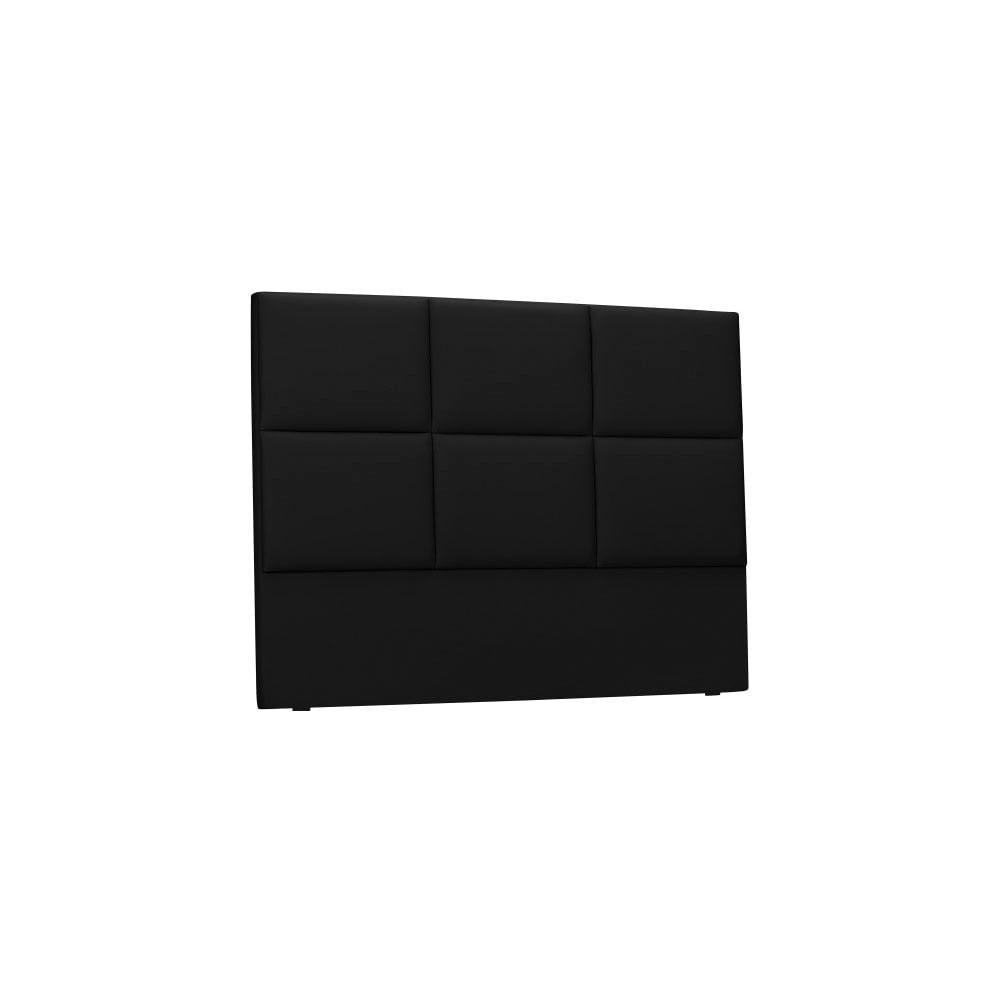Čierne čalúnené čelo postele THE CLASSIC LIVING Aude, 160 × 120 cm