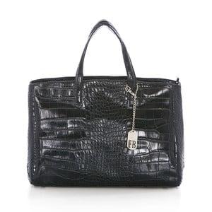 Tmavosivá kožená kabelka Federica Bass Eris