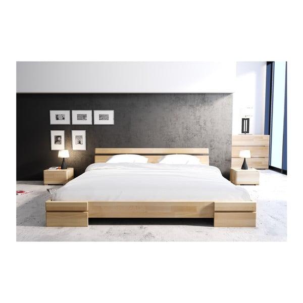 Nočný stolík z bukového dreva sozásuvkou SKANDICA Sparta