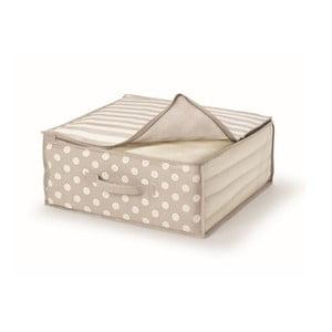 Béžový uložný box na prikrývky Cosatto Trend, 45x45cm