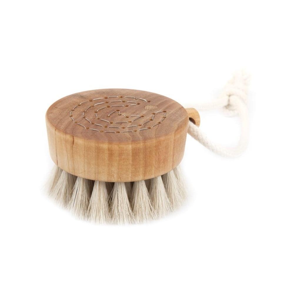 Prírodná kefa na telo z konských vlasov Iris Hantverk, Ø 9 cm