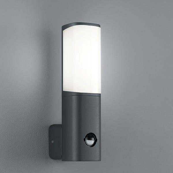 Záhradné nástenné svetlo s pohybovým čidlom Ticino Antracit, 27 cm
