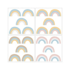 Sada 20 nástenných samolepiek Dekornik Rainbow Pastel