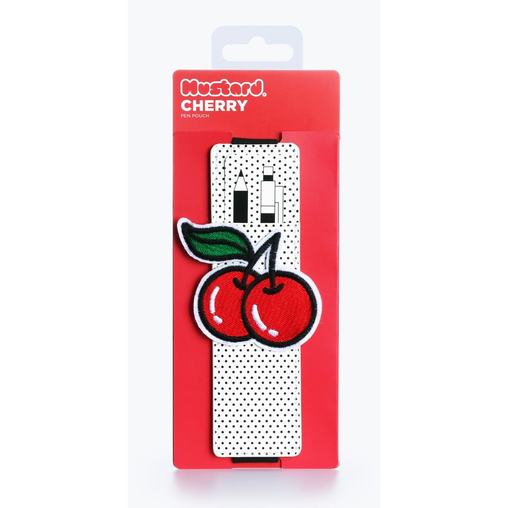 Puzdro na ceruzky Just Mustard Cherry