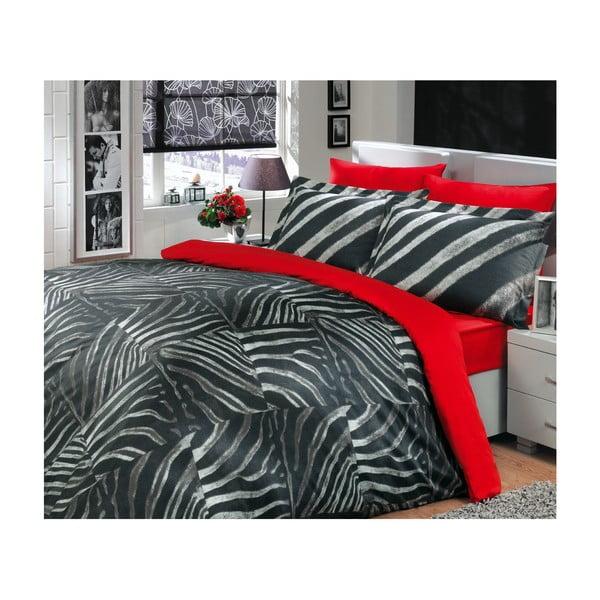 Obliečky na manželskú posteľ Retro Black, 200x220 cm