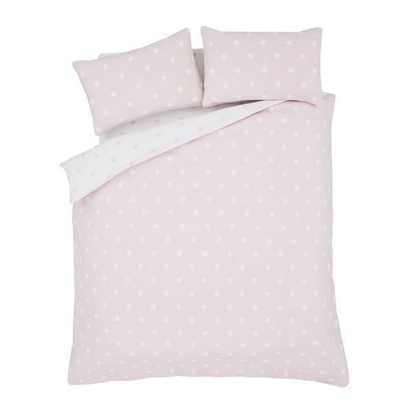 Obliečky Brushed Polka Pink, 135x200 cm