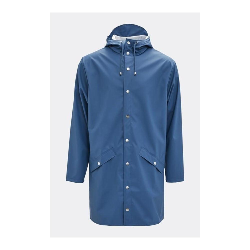 Modrá unisex bunda s vysokou vodoodolnosťou Rains Long Jacket, veľkosť XS/S