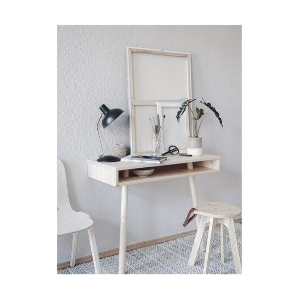 Čierny stolík z borovicového dreva Karup Design Capo Black