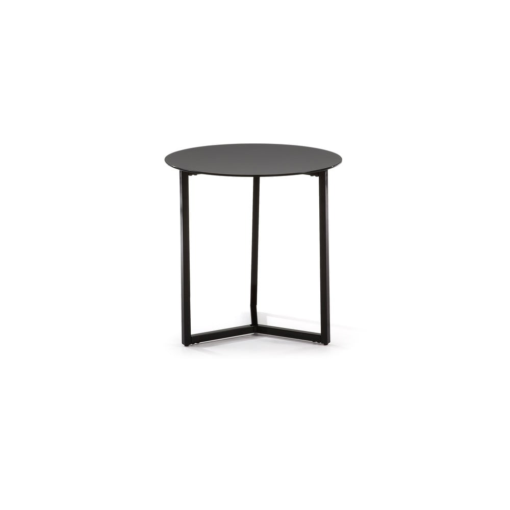 Čierny odkladací stolík La Forma Marae, ⌀ 50 cm
