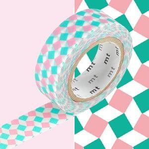 Washi páska Petits Carrés Rose et Vert