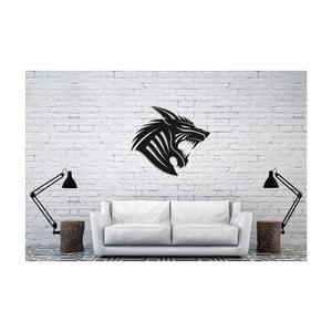 Čierna nástenná dekorácia Oyo Concept Sharp Teeth, 50×44 cm