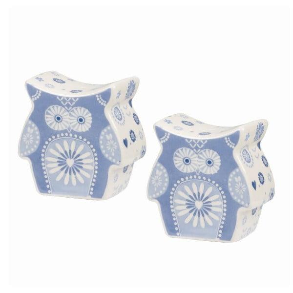 Soľnička a korenička Blue Owl
