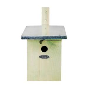 Búdka pre vtáčiky z borovicového dreva Esschert Design, 21,5×33,3 cm