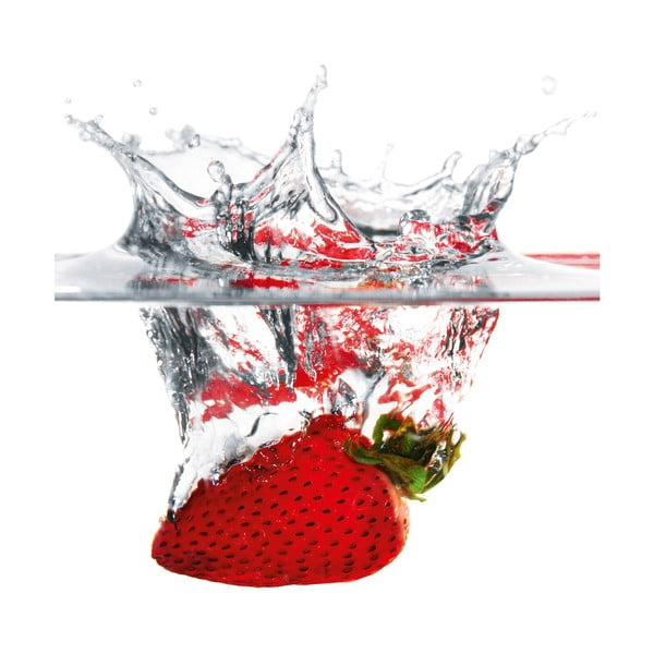 Sklenený obraz Strawberry Splash , 30x30 cm