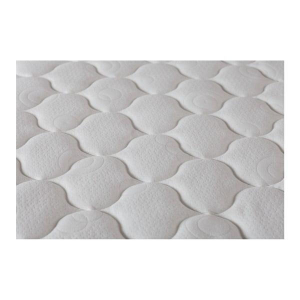 Bielo-sivý matrac s pamäťovou penou Stella Cadente Syrius, 160 × 200 cm