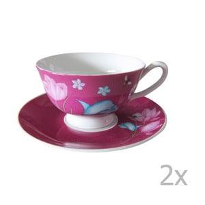 Sada 2 ružových šálok na cappucino Ruby