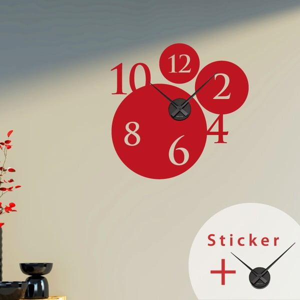 Samolepiace hodiny Bubbles and Numbers, 55 cm